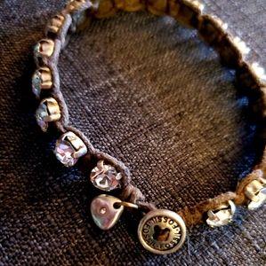 Fossil rope bracelet